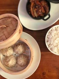 Xiaolongbao y berenjenas